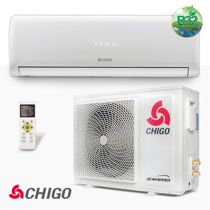 Инверторен климатик Chigo, CS-25V3G-1C169AY4A, за високостенен монтаж